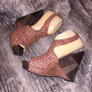 d9defe03f39e Sam Edelman Shoes - NEW Sam Edelman Kasi Brown Woven Wedge Sandal